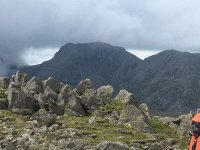 Scafell from the path to Ore Gap