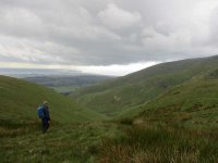 Rain Clouds over Barrow through the Whitecombe Beck valley