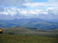 The Coniston Fells from the top of Black Combe Screes