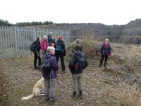 At the disused Middlebarrow Quarry