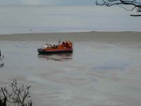 The RNLI were practicing in their Hovercraft