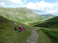 Enjoying the view down Langdale during the decent