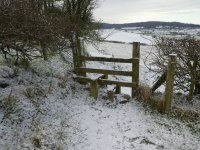 Stile at the Top of Hanging Hill