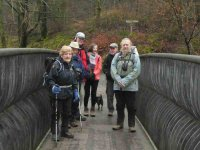 The group on the new bridge at Skelwith Bridge
