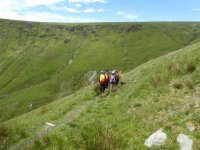 Starting to descend Whitecombe Beck Valley